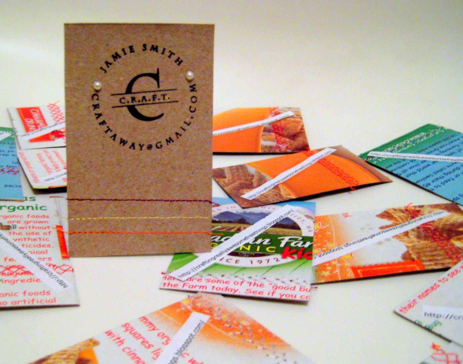 Diy business cards think crafts by createforless diy business cards reheart Images