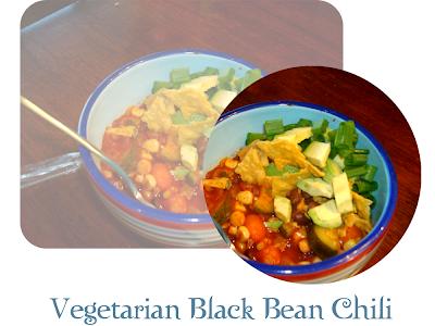 Vegetarian Black-Bean Chili Recipe — Dishmaps