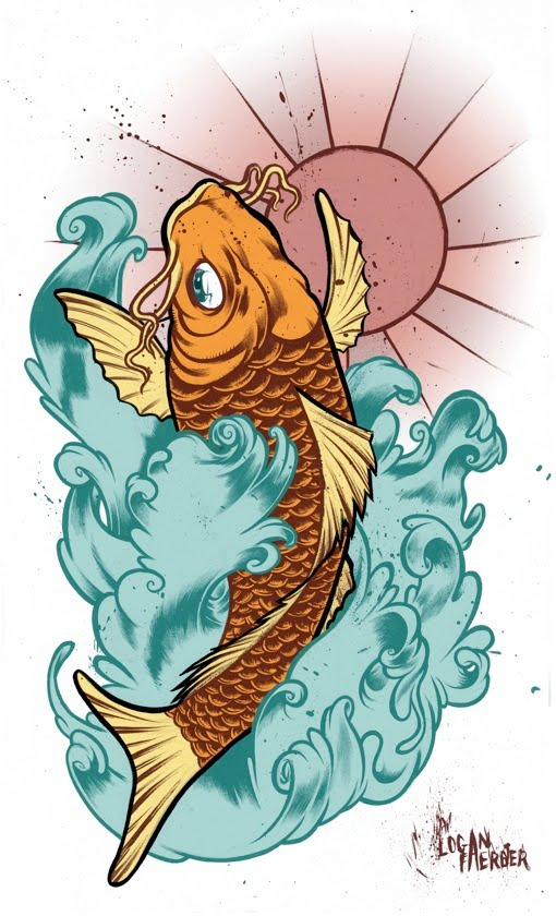 logan faerber illustrator koi fish photoshop tattoo design. Black Bedroom Furniture Sets. Home Design Ideas
