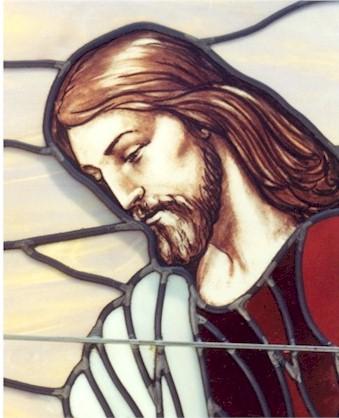 Desain Kaca Patri Yesus