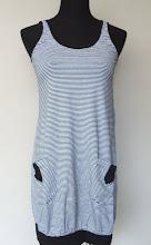 A 1086 - Sleeveless stripe long (black)