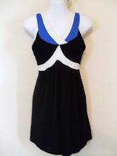 A 1167 - Black/blue top, fits size S,M