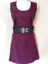 A 1179 - Purple dress (belt not included), fits size S,M