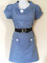 A 1184 - Denim dress (belt not included), fits size S,M
