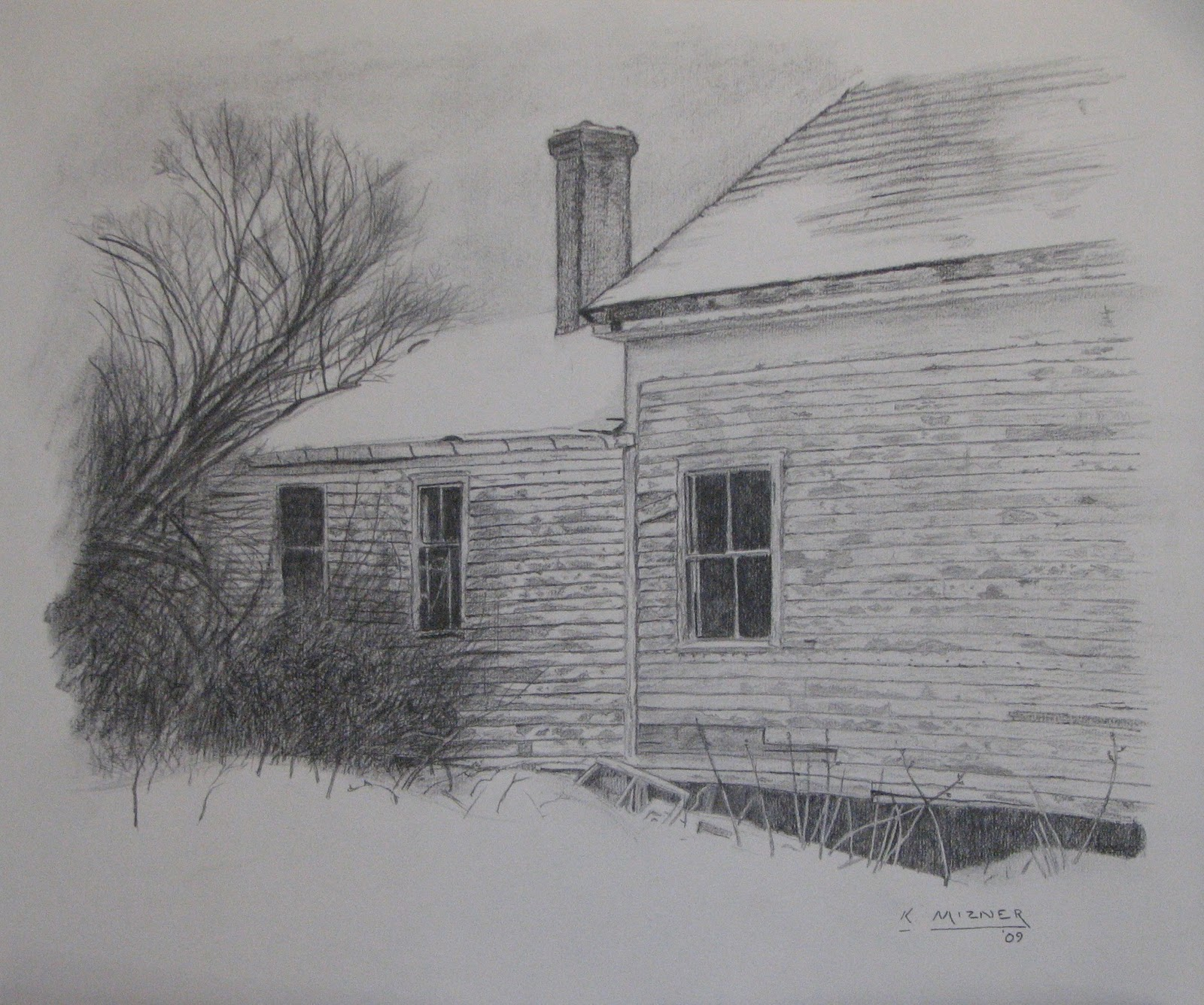 Drawing  Old Houses http://kmizner.blogspot.com/2010_10_01_archive.html