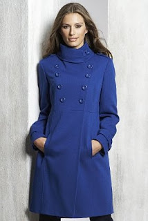 Blue Limited Collection Military Coat