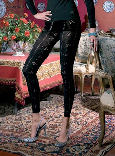 lace print leggings