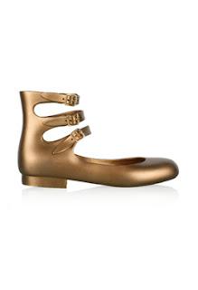 vivienne Westwood gold rubber pumps