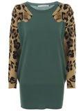 jean charles de castabajac leopard head sweater dress