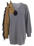 jean charles de castabajac horse sweater dress