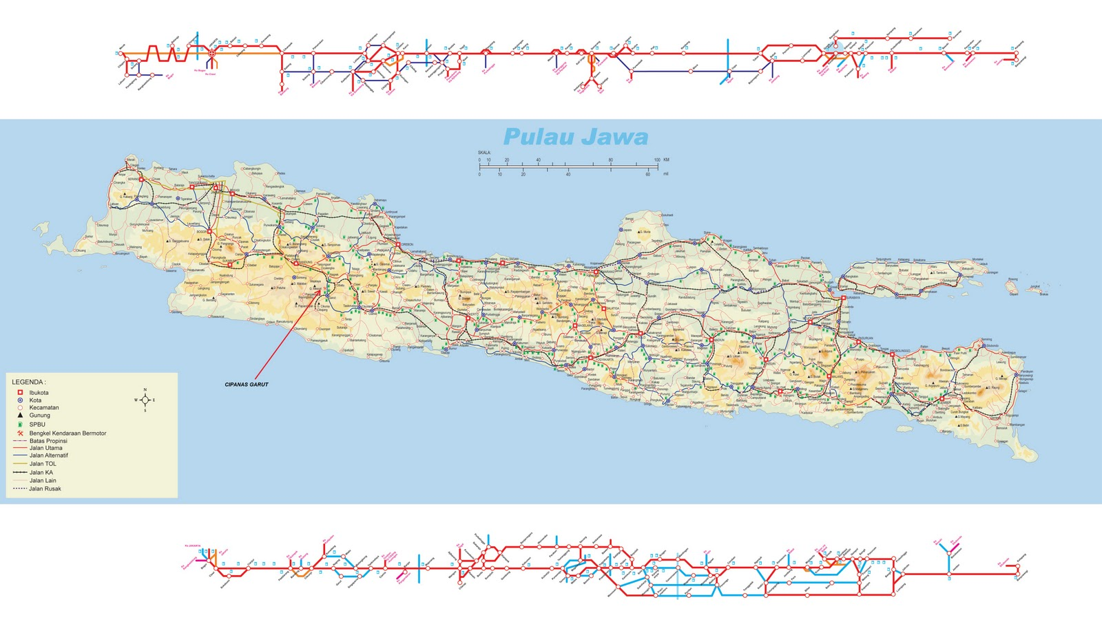 Garut Indonesia  city photo : Cipanas Garut map on Java island click map for zoom