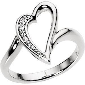 CZ Jewelry Gifts: Heart Rings