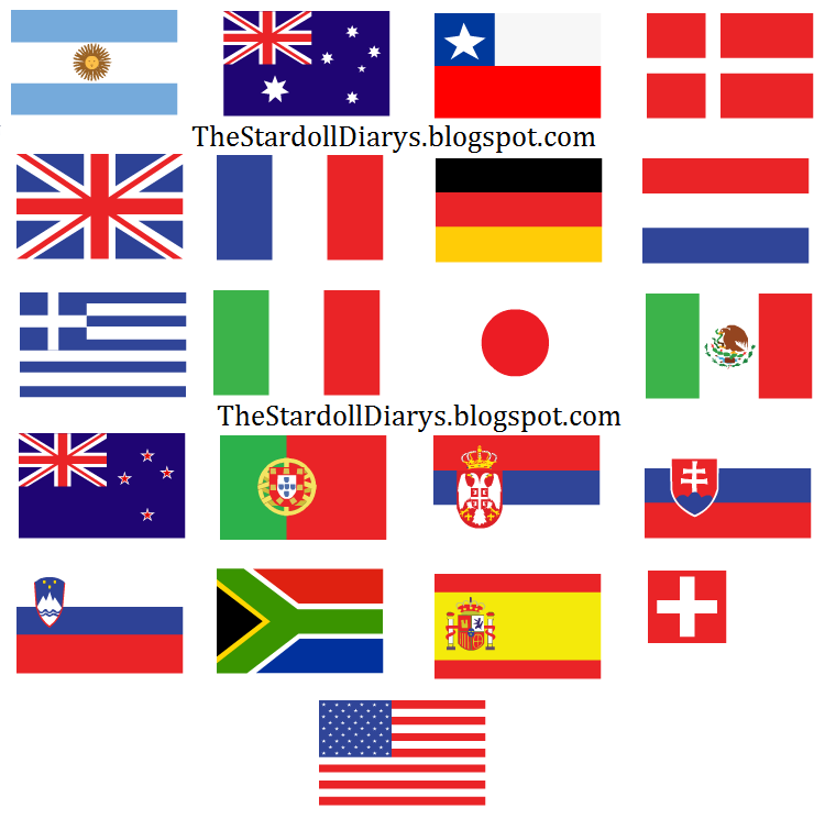 Flags Of Countries Around The World Flags of many countriesFlags Of Countries Around The World
