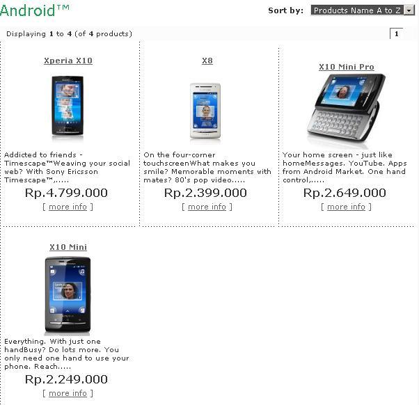 screenshot harga ponsel android dari web www.dutagemilang.com hari ini ...