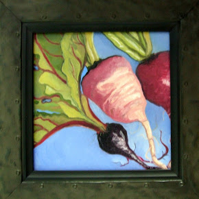 My painting: Radishes and Beets