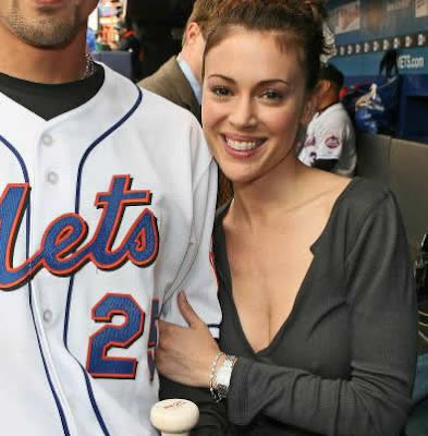 alyssa milano nips shea stadium