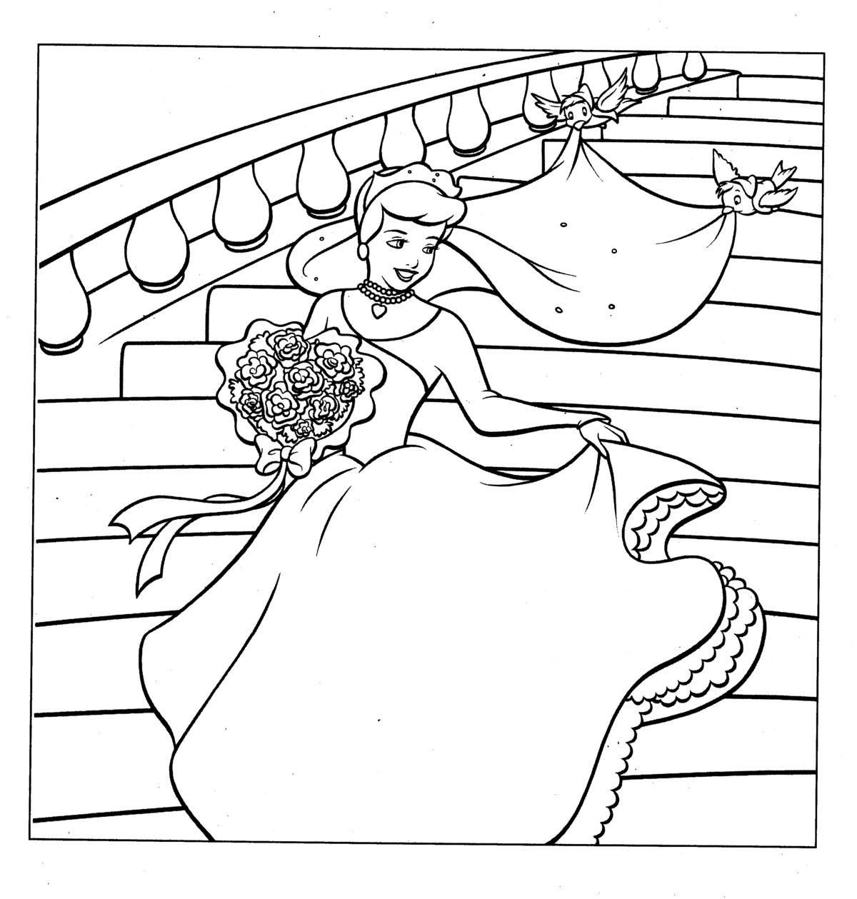 Coloring Pages for everyone Cinderella