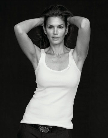 models no makeup. cindy crawford hairstyles