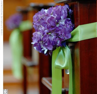 Wedding Pew Bows Church Decorations