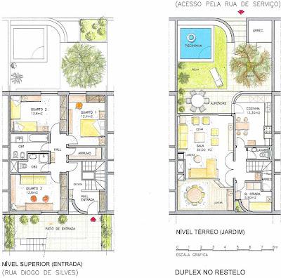 Casa de C.C Plantas_T3Duplex_Restelo