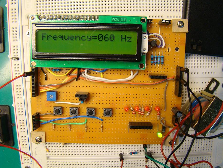 Frequency Counter Projects : Experiment no timer counting ac line frequency