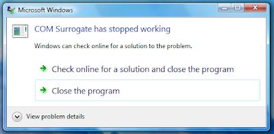 Reparar COM Surrogate y codecs en Vista