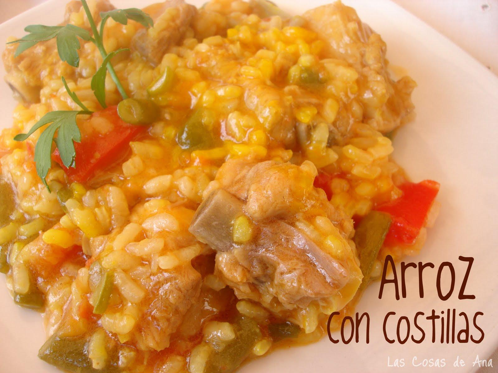 Las cosas de ana arroz con costillas - Arroz con verduras y costillas ...