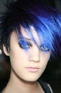 Modern crazy blue short hairstyles 2010