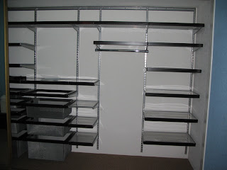 this is an elfa closet i designed from the container store my client had a install it but you really can install these closets yourself