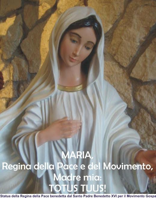 Regina della Pace benedetta il 4 giugno 2008 dal Santo Padre Benedetto XVI: TIENILA SEMPRE CON TE!