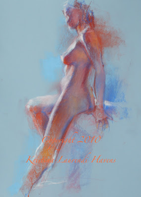 Nude female figure drawing models