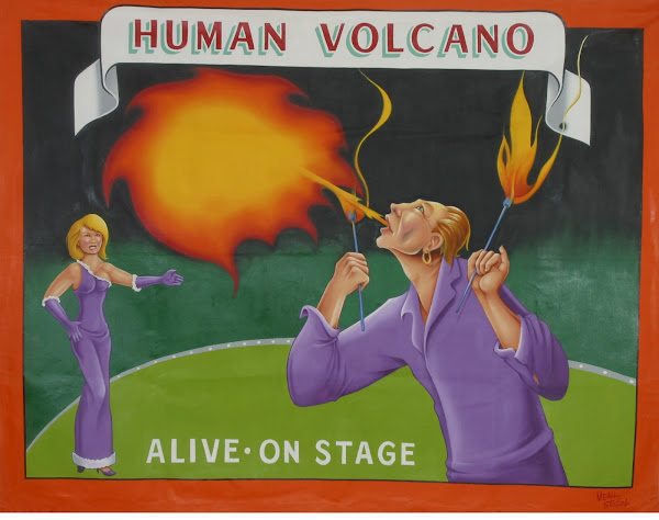 Johnny Meah Human Volcano Banner