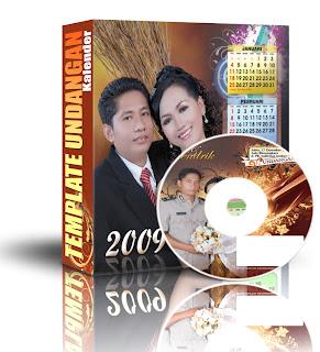 Template Kalender Undangan Nikah 2009