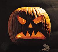 horrifying pumpkin face wallpaper