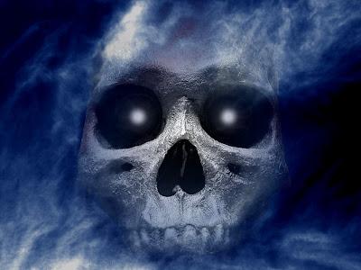 Free Skull Shower Halloween Wallpaper
