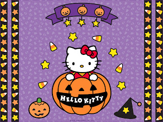 Hello Kitty Halloween Pumpkin Wallpaper