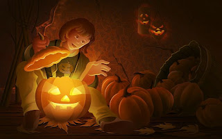 halloween jack 0 lanterns wallpaper