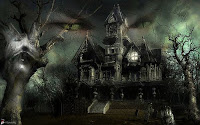 Gothic Halloween House Wallpaper