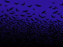 blue halloween night sky wallpaper