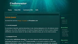 Underwater XML Blogger Template