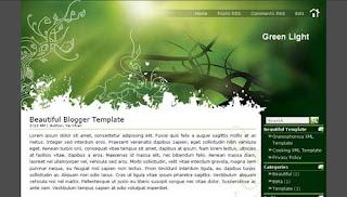 Green Light XML Blogger Template
