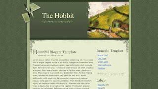 The Hobbit XML Blogger Template