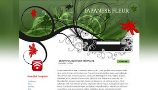 Japanese Fleur Beautiful Blogger Template