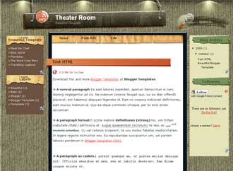 Theater Room Blogger Template