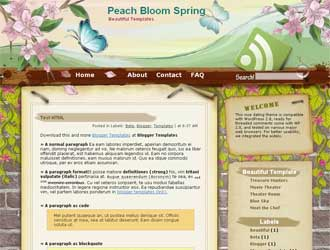 Peach Bloom Spring Blogger Template