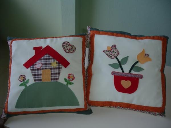 Conjunto de almofadas patchwork