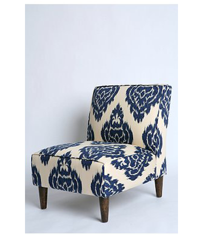 The Modern Sophisticate Perfect Pair Blue Ikat Gold