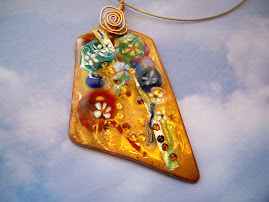 Everything Goes Copper Enamel Pendant