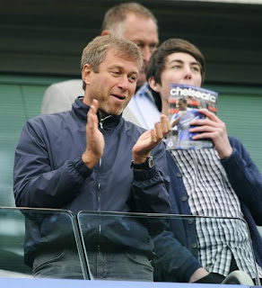 roman abramovich during chelsea vs blackburn
