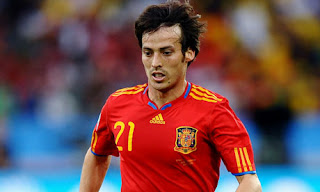 david silva playing for spain
